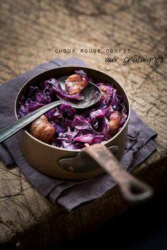 chou rouge confit châtaignes recette automne https://homeandbiscuits.wordpress.com/