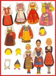 Ingrid Molzen. PDsamler. Online Interest Group on paper dolls. Dolls from Kellogspakker