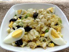"""Afin de saluer les Portugais avec """"Cuisiner pour la paix"""" voici la salade de morue crue qui m'a été transmise par une portugaise."""