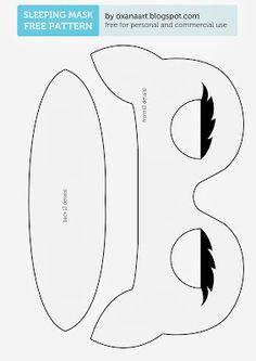 Sleeping mask free sewing pattern: http://oxanaart.blogspot.co.uk/