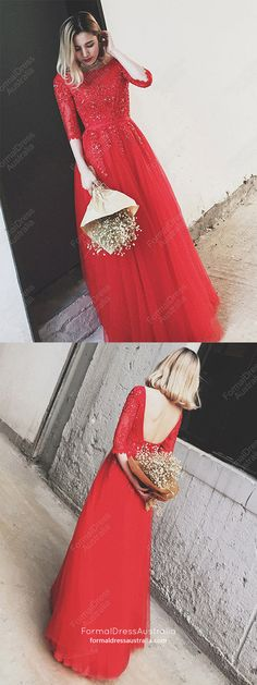 Red Prom Dresses Lace, Long Prom Dresses With Sleeves, Elegant Evening Dresses Backless, Formal Graduation Dresses for Teens Sparkly Prom Dresses, Senior Prom Dresses, Simple Prom Dress, Prom Dresses For Teens, Prom Dresses 2018, Prom Dresses With Sleeves, Beautiful Prom Dresses, Graduation Dresses, Evening Dresses