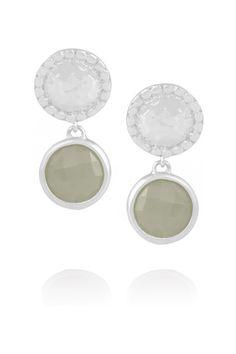 Monica Vinader Mini Luna sterling silver labradorite earrings