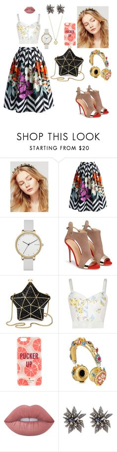 """""""Soul of the party"""" by krystal-av on Polyvore featuring Free People, Chicwish, Skagen, Aspinal of London, STELLA McCARTNEY, Kate Spade, Dolce&Gabbana, Lime Crime and Alexis Bittar"""