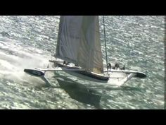 New record for the flying boat Hydroptere in San Francisco, blows my mind! Goes through ferry wake, NO problem