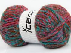 Harmony Mohair Turquoise Pink Copper Yarn