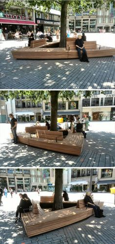 Custom made urban bench by Grijsen, Düsseldorf, Germany