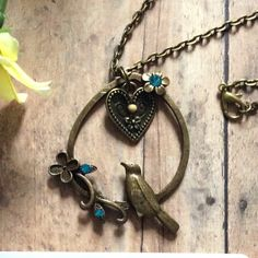 Mustard Seed Jewelry, Faith Jewelry, Mustard Seed Necklace, Christian Jewelry, bird necklace, antique bronze necklace, Matthew 17:20, Heart by BeautifullyInspiredJ on Etsy
