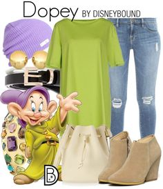 Dopey-inspired fashion from DisneyBound and Snow White and the Seven Dwarfs!