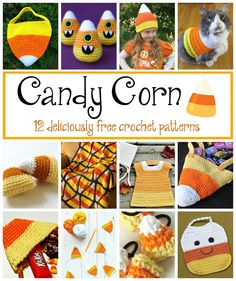 Candy Corn! 12 Free Crochet Patterns...Roundup on Fiber Flux