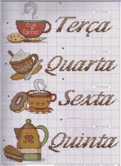 Como prometido...hj vou postar o gráfico da semaninha do Café em ponto cruz... vale a pena fazê-lo fica lindOOO
