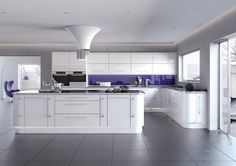 Looking for an on-trend white gloss kitchen? Call us today for an in-home appointment with our design team, and we could be fitting your new kitchen in January New Kitchen, White Kitchen Design, Charming Kitchen, Replacement Kitchen Doors, Kitchens And Bedrooms, Kitchen Fittings, New Kitchen Cabinets, Kitchen Design, Contemporary Kitchen