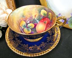Paragon Tea Cup And Saucer Cobalt Blue Artist Signed Painted Fruits Teacup Gold FOR SALE • $325.00 • See Photos! Money Back Guarantee. Your browser does not support JavaScript. To view this page, enable JavaScript if it is disabled or upgrade your browser. Click Here. Double your traffic. Get Vendio Gallery - Now 381881615974