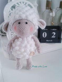 Amigurumi sheep, owieczka, owca