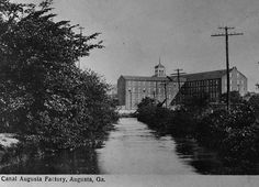 1890s. Canal Augusta Factory, a cotton mill. Built in 1847 and demolished in 1960