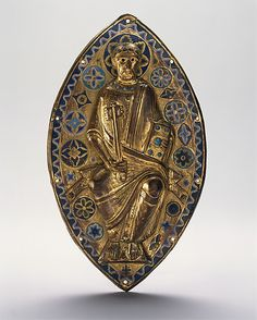Plaque with Saint Peter in Glory                                                                                      Date:                                        ca. 1185–1200                                                          Geography:                                        Made in, Limoges, France                                                          Culture:                                        French