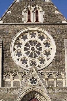 This photo from Canterbury, South Island is titled 'Christchurch Cathedral'. Christchurch New Zealand, Rose Window, Nz Art, Cathedral Windows, South Island, Canterbury, My Heart Is Breaking, Barcelona Cathedral, Tourism