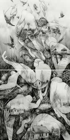 Visually Arresting New Sketchbook Spreads and Drawings by Pat Perry