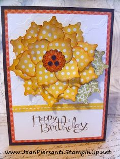 Sunflower Happy Birthday Card with Mosaic Punch - Stampin' Up!