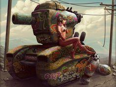 Comics - Tank Girl Fondo de Pantalla