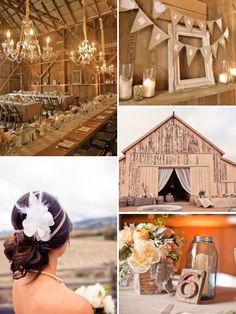 Perfect - 2 of my favorite things - weddings and barns!