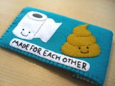 iphone - cell phone - ipod touch - ipod - Handmade Poo and toilet paper case. $22.00, via Etsy.