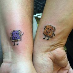 PB&J best friends tattoo. I feel like my bestie & I need bff #tattoos & of course we need something hella nerdy like this