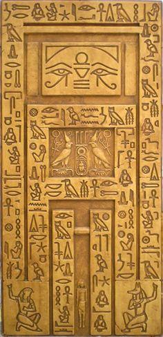 EGYPTIAN WALL- FALSE DOOR WITH HEIROGLYPHS $190