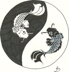 koi yin yang tattoo by RelentlessArt