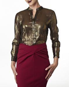 The Metallic shirt - gotta have it!