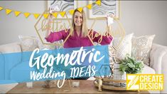 Geometric Wedding Decor Ideas - Gold Table Numbers, Hexagon Chair Signs, & More Ways to Incorporate a Modern Minimalist Theme to Your Wedding Day | Bridal Tips & Tricks