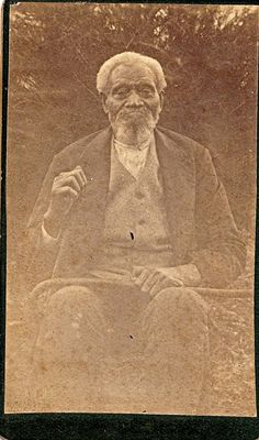 cdv--elderly african american man--most likely a slave--1800s