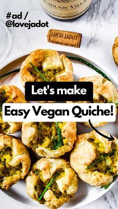 Vegetarian Brunch, Vegan Breakfast Recipes, Vegan Vegetarian, Vegetarian Recipes, Vegan Food, Healthy Vegan Snacks, Healthy Recipes, Aperitivos Vegan, Vegan Quiche