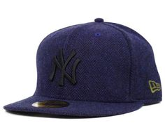 NEW ERA x MLB 「New York Yankees Herringbone」59Fifty Fitted Baseball Cap  Yankees Hat a43ae7fb8d4
