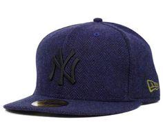 NEW ERA x MLB 「New York Yankees Herringbone」59Fifty Fitted Baseball Cap  Yankees Hat a43ae7fb8d4
