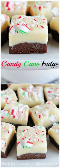 This easy Candy Cane Fudge is so simple to make and is the perfect treat or holiday parties and Christmas cookie trays! This is mint chocolate bliss!