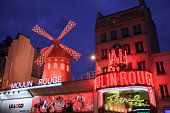 Moulin Rouge : The Moulin Rouge is best known as the spiritual birthplace of the modern form of the can-can dance. Originally introduced as a seductive dance by the courtesans who operated from the site, the can-can dance revue evolved into a form of entertainment of its own and led to the introduction of cabarets across Europe.