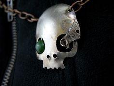 Spoon Skull Pendant