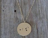 Mark your children's birthdates with a constellation necklace! A subtle mothers necklace. - gold plated constellation pendant necklace for Mother's Day.