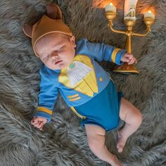 With the release of Beauty and The Beast today we thought for our sons one month photos we should dress him accordingly. Baby Ewok Costume, Boy Costumes, Baby Beast Costume, Scary Costumes, Costume Ideas, Best Toddler Halloween Costumes, Baby Halloween Outfits, Baby Boy Pictures, Newborn Pictures