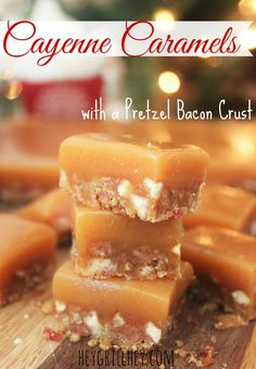 The salty chew that bacon lends to the crust of these caramels is friggin heavenly. It's like bacon and pretzels were destined to be together at the bottom of a luscious, spicy caramel lake. Sweet and savory combine in a treat that will knock your Santa socks off. Wrap these up for the perfect holiday gift!