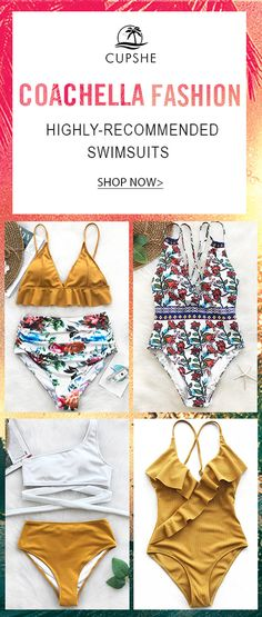 Coachella is officially in full swing and we couldn't be more excited! It's no secret that this festival brings forth some of the coolest trends for summer fashion. Check out these swimsuits that are fit for all of your festival-going needs!
