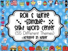 Sight Word Roll & Write *Editable* Center for All Year! $