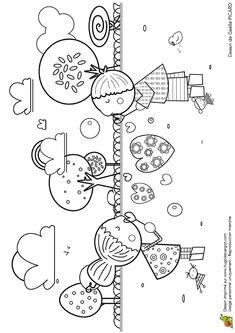 Coloriage du dessin d une petite fille qui donne de gros - Dessin de bisous ...