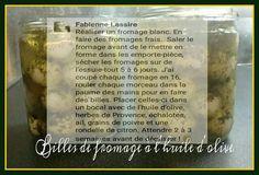 Billes de fromages dans l'huile d'olive