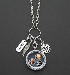 charm locket necklace - Google Search