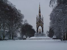 Snow in England - Albert Memorial
