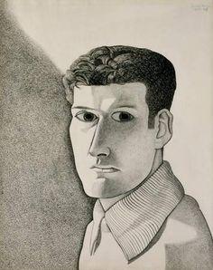 Lucian Freud - 1947/48: Man at Night (Self-Portrait) Pen, ink and conté