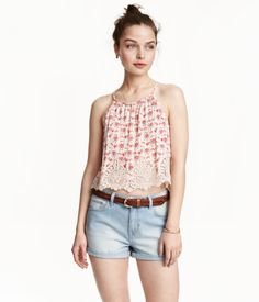 1ffea3660bf H M Short Camisole Top with Lace  24.99