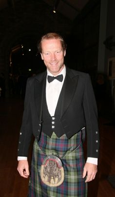"""Iain Glen, Scottish actor, currently playing Ser Jorah Mormont on Game of Thrones- this is Jamie Fraser- the same """"good-natured"""" face Diana Gabaldon describes."""