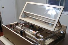 The blackTooth, a laser cutter made by Patrick Hood-Daniel is the affordable laser cutter many makers have been waiting for -- but beware, the plywood frame can, and probably will, catch fire